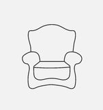 Schematically chair. Modern Flat style Vector Illustration. EPS10 Royalty Free Stock Photo