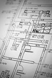 Schematics. A macro shot of schematics Royalty Free Stock Images