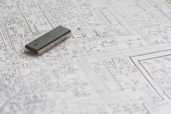 schematics fotografia stock