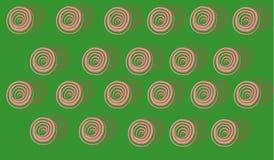 Schematisch rozenpatroon Royalty-vrije Stock Afbeelding