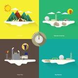 schematische Geologie von Erdgasbetriebsmitteln Stockbild