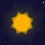 Schematische illustratie van de zon in ruimte Royalty-vrije Stock Foto