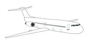 Schematisches Flugzeug Stockbild