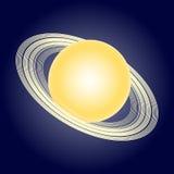Schematisches Modell des Planeten Saturn Astronomische Symbole Vektor Lizenzfreies Stockfoto