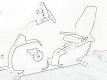 Schematisk teckning av cykeln Arkivfoton