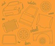 Schematyczny przedstawicielstwo części samochód Obraz Stock