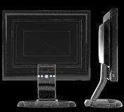 schematyczny wireframe świetle lcd ilustracji