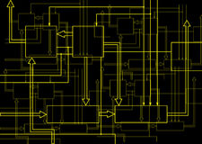 Scheme electronic Stock Image