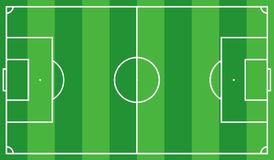 Scheme of the football field of green color, look from above. Eps 10 Stock Images