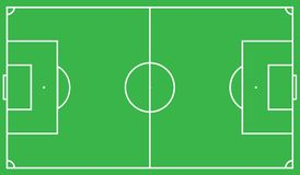 Scheme of the football field of green color, look from above. Vector illustration eps 10.  Stock Photography