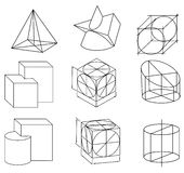 Scheme of geometrical objects Stock Photography