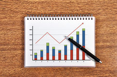 Scheme growth profits Stock Images