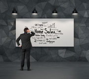 Scheme home sales Royalty Free Stock Images