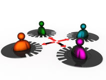Scheme of interaction of people №12 Royalty Free Stock Image