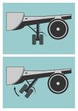 Scheme of landing gear retraction Stock Image