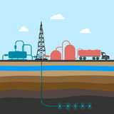 Scheme of mining shale fossil Stock Photography