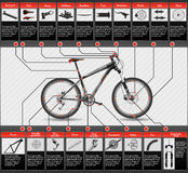 Scheme of mountain bike Stock Image