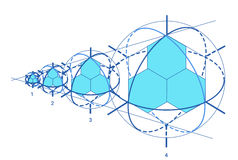 Scheme of physics, chemistry and sacred geometry. Royalty Free Stock Photo
