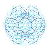 Scheme of physics, chemistry and sacred geometry. Royalty Free Stock Photography