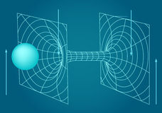 Scheme of physics, chemistry and sacred geometry. Stock Image