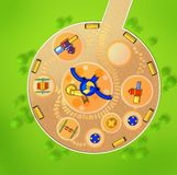 The scheme of the playground from above. Stock Image