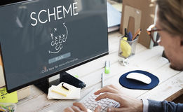Scheme Project Operation Predict Strategy Task Concept Stock Image