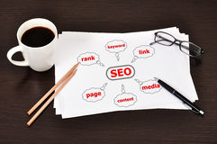 Scheme seo Royalty Free Stock Photos