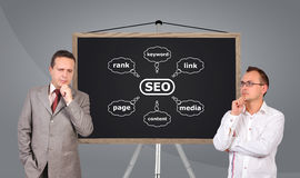 Scheme seo on blackboard Stock Photography