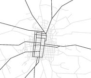 Scheme of streets - city map - vector Stock Photography