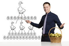 Scheme of successful business Stock Image