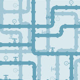 Scheme of water system .Seamless  background Royalty Free Stock Photo