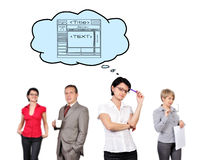 Scheme web page concept Stock Images