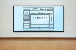 Scheme web page Stock Photo