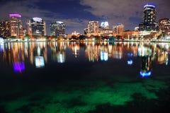 Schemer de van de binnenstad van Orlando Royalty-vrije Stock Foto's