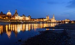 Schemer in Dresden - Oude stad Stock Afbeeldingen