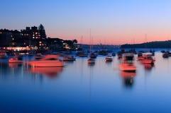 Schemer op de Haven van Sydney stock foto