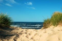 Schemer op het strand Royalty-vrije Stock Foto's
