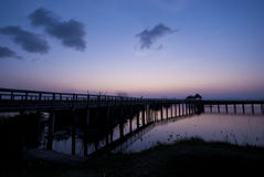 Schemerhemel van Khao Sam Roi Yot National Park, Thailand Stock Fotografie