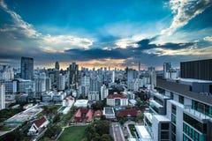 Schemering in Bangkok Thailand Stock Afbeelding