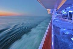 Schemering bij het Middellandse-Zeegebied Royalty-vrije Stock Afbeelding