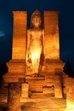 Schemering bij Sukhothai historisch park, Thailand Royalty-vrije Stock Fotografie