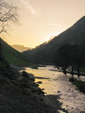 Schemering in Dovedale Stock Fotografie