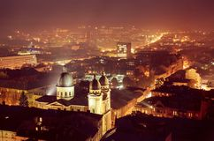 Schemering in Lviv Stock Afbeelding