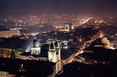 Schemering in Lviv Royalty-vrije Stock Fotografie