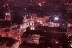 Schemering in Lviv Royalty-vrije Stock Afbeeldingen
