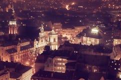 Schemering in Lviv Royalty-vrije Stock Foto's