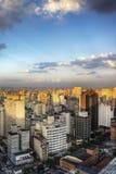 Schemering in Sao Paulo Royalty-vrije Stock Afbeelding