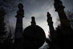 Schemering van de Goden - de Donkere zon tekent op Royalty-vrije Stock Foto's