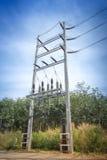 Schemeringfoto van elektrische centraleverlichting Royalty-vrije Stock Fotografie