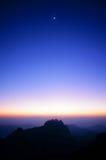 Schemeringhemel na zonsondergang Royalty-vrije Stock Fotografie